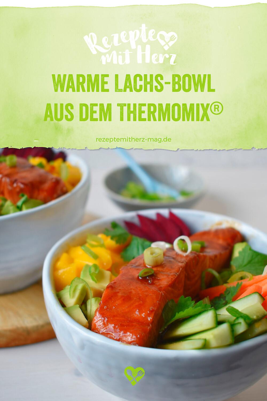 Warme Lachs-Bowl aus dem Thermomix