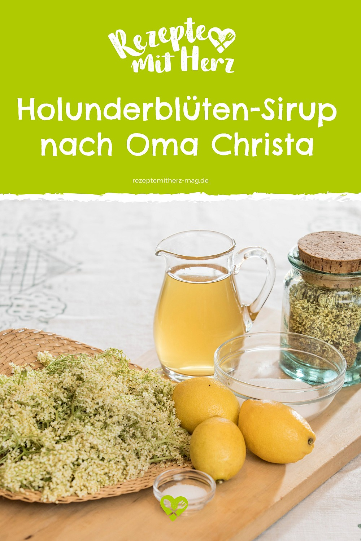 Holunderblüten-Sirup nach Oma Christa. Thermomix-Rezept