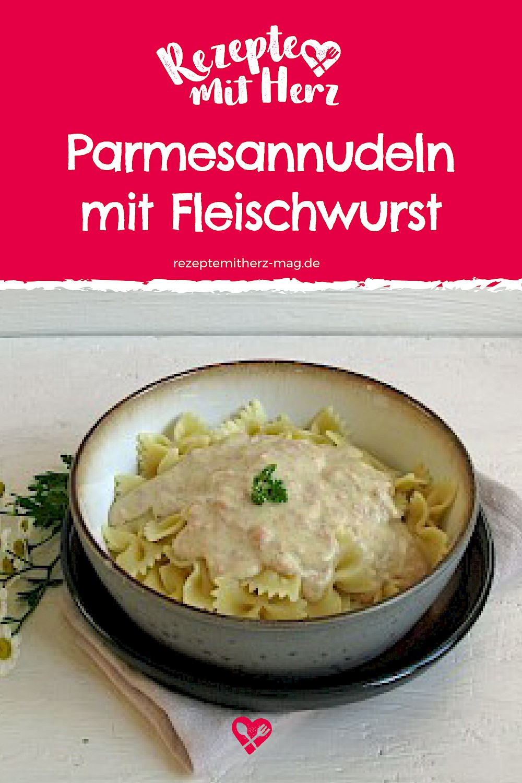Parmesan-Nudeln mit Fleischwurst aus dem Thermomix