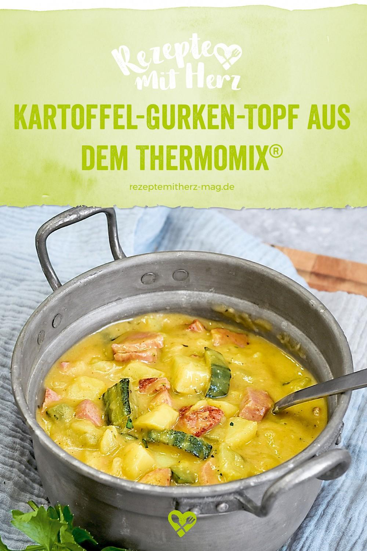 Kartoffel-Gurken-Topf  mit Fleischwurst aus dem Thermomix®