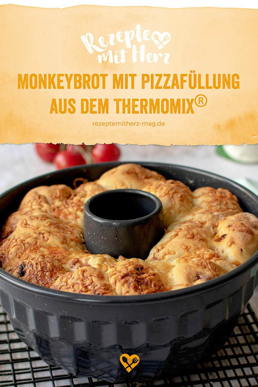 Monkeybrot mit Pizzafüllung aus dem Thermomix®