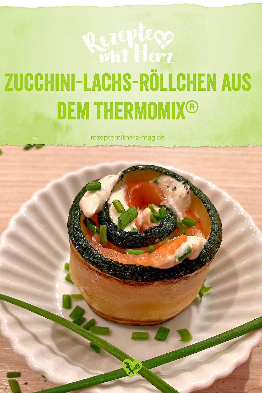 Zucchini-Lachs-Röllchen - Thermomix-Rezept