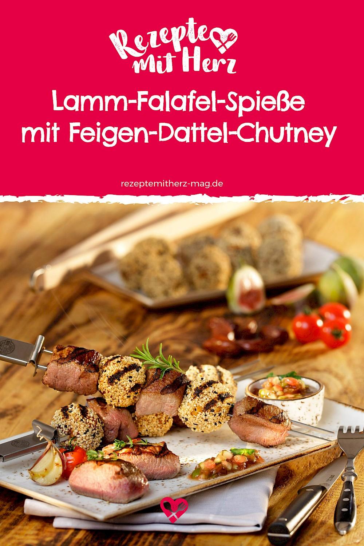 Lamm-Falafel-Spieße mit Feigen-Dattel-Chutney
