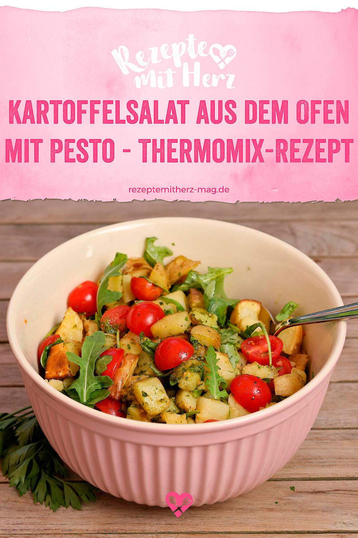 Kartoffelsalat aus dem Ofen mit Pesto - Thermomix-Rezept