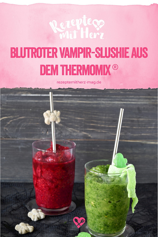Blutroter Vampir-Slushie aus dem Thermomix® für Halloween