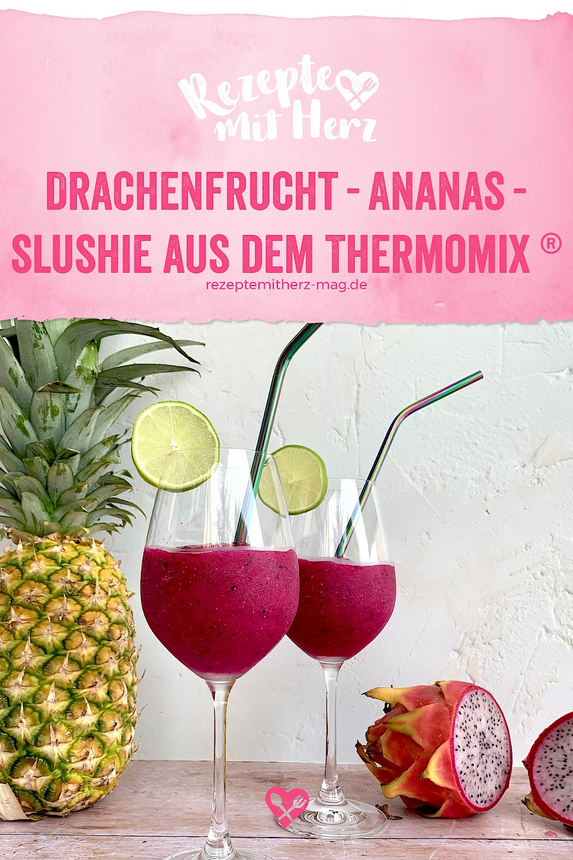Drachenfrucht-Ananas-Slushie aus dem Thermomix®