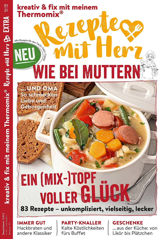 """EXTRA """"Wie bei Muttern"""" 1/2021 - 83 Rezepte für den Thermomix"""