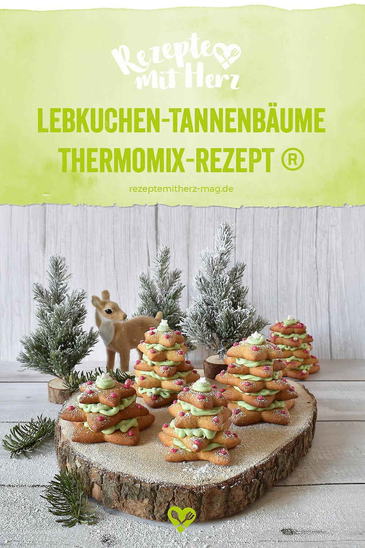 Lebkuchen-Tannenbäume - Thermomix-Rezept