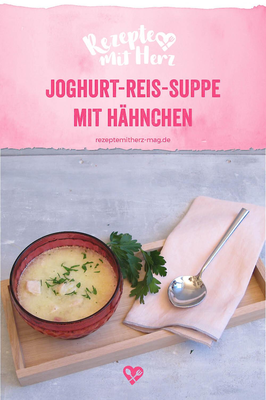 Joghurt-Reis-Suppe mit Hähnchen aus dem Thermomix®
