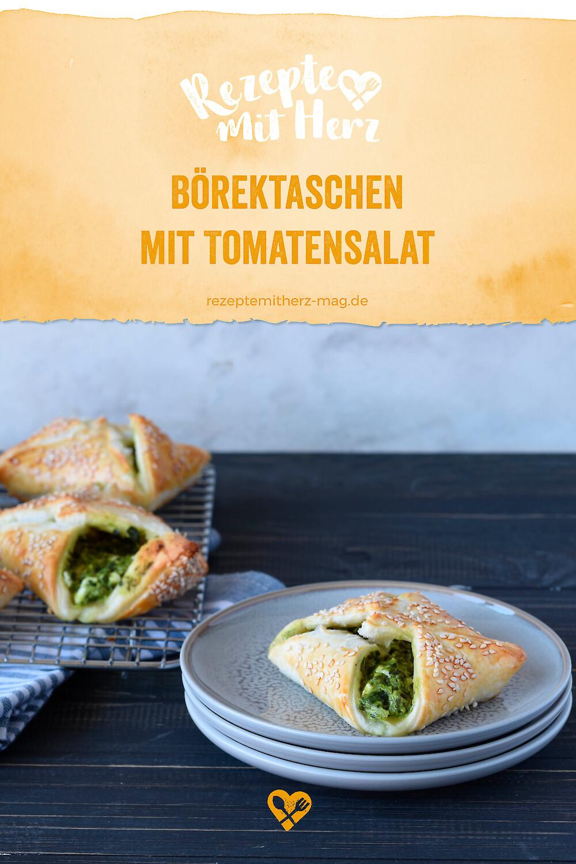 Börek-Taschen mit Tomatensalat - Thermomix-Rezept