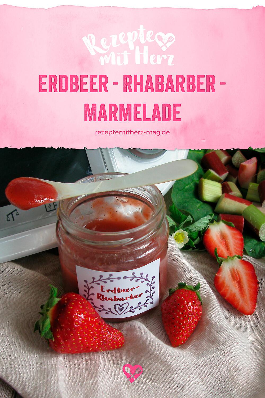 Erdbeer-Rhabarber-Marmelade - Thermomix-Rezept