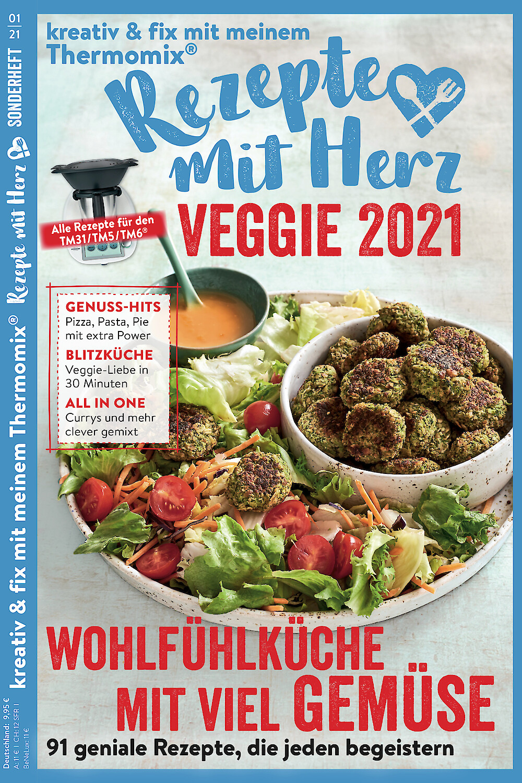 """SONDERHEFT """"VEGGIE 2021"""" - 91 Rezepte für den Thermomix"""
