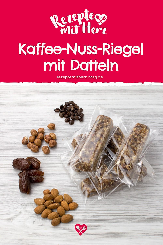 Kaffee-Nuss-Riegel mit Datteln. Thermomix-Rezept