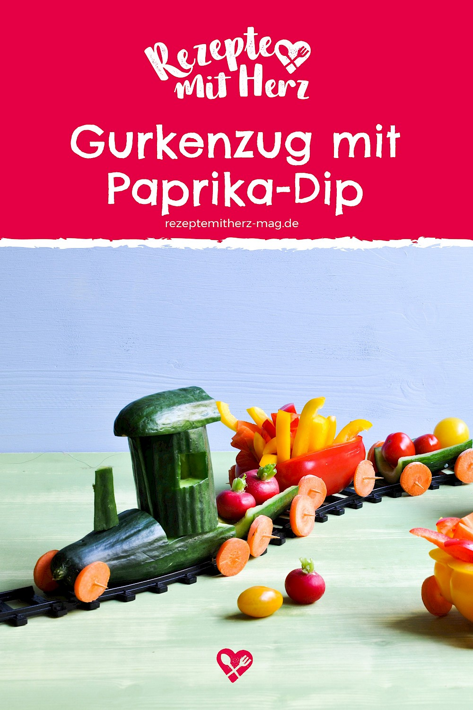 Gurkenzug mit Paprikadip - Thermomix-Rezept®