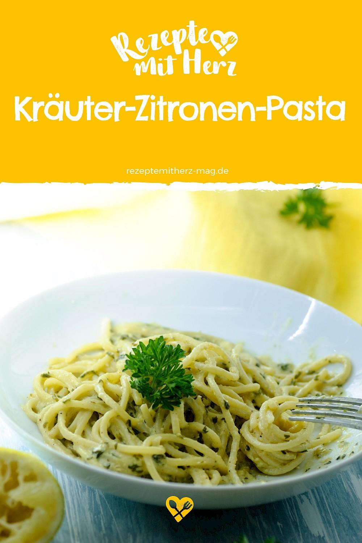 Kräuter-Zitronen-Pasta aus dem Thermomix. Schnell, einfach und lecker
