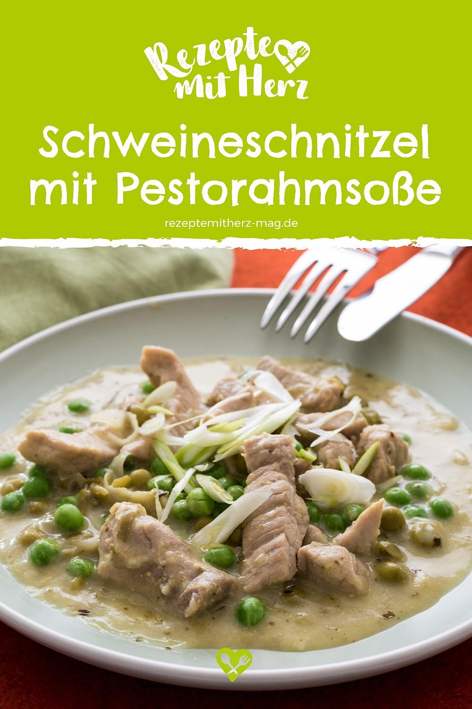 Schweineschnitzel-Pfanne in Pestorahmsoße - Thermomix-Rezept