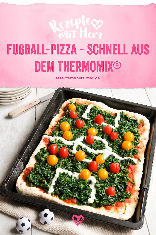 Fußball Pizza - Thermomix-Rezept