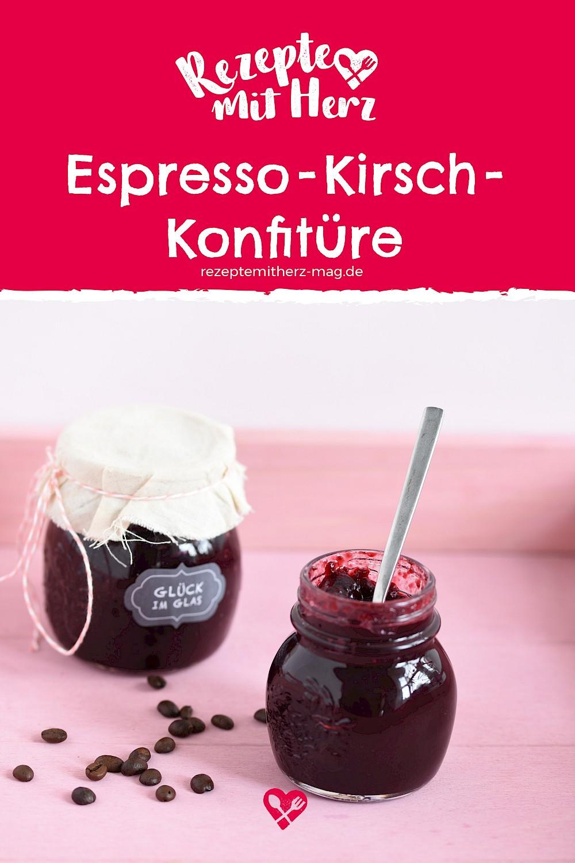 Espresso-Kirsch-Konfitüre aus dem Thermomix