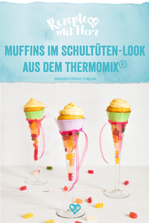 Muffins mit Schultüten. Thermomix-Rezept